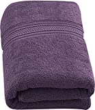 Utopia Towels - Luxurious Jumbo Bath Sheet (35 x 70 Inches, Plum) - 700 GSM 100% Ring Spun Cotton...
