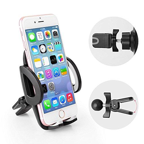 Avolare Soporte Móvil en Coche 360°Rotable para la Rejilla de Ventilación Universal para los Dispositivos de Móviles y GPS iPhone Samsung Huawei Sony LG bq etc.