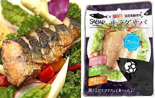 SABAR×内野家 uchipac 無添加サラダフィッシュ【国産真鯖を使用】サバ プレーン10食セット/DHA EPAを含む サラダチキンやプロテインの代替品としても最適 へルシーフード レトルトおかず ウチパク