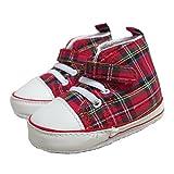 Glen Appin Botas con cordones para bebés - Patrón Royal Stewart Tartan - Rojo - 12-18 meses