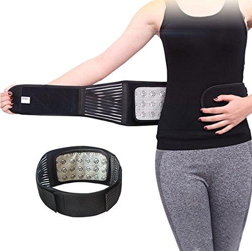 MAIBU attelle de soutien de thérapie magnétique auto-chauffante amovible soulagement de la douleur réglable soutien de la taille du dos ceinture lombaire M