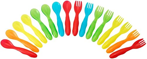 TOMY The First Years Take & Toss Flatware for Kids, 16 pieces, multicolor