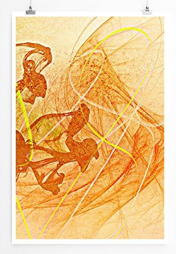 Diana - modernes abstraktes Bild Sinus Art - Bilder, Poster und Kunstdrucke
