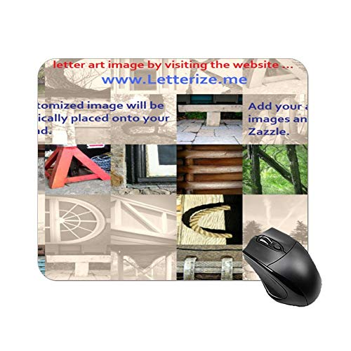 Gaming Mouse Pad Letter Art Corporate Design Art Desktop and Laptop 1 Pack 25x20x2cm/9.8x7.9x0.8inch