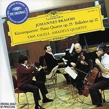 Brahms: Piano Quartet op.25 / Ballades op.10