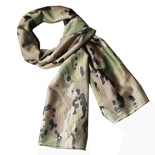 REEBOW GEAR Mehrzweck Militär Taktische Kampf Halstuch Keffiyeh Nackenschutz Tarnnetze Shemagh Schal (Multicam)