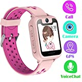 PTHTECHUS Telefono Reloj Inteligente GPS Niños - Smartwatch con Localizador GPS LBS Podómetro Juegos Despertador...