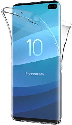 AICEK Funda Samsung Galaxy S10 Transparente Silicona 360°Full Body Fundas para Samsung S10 Plus Carcasa Silicona Funda Case