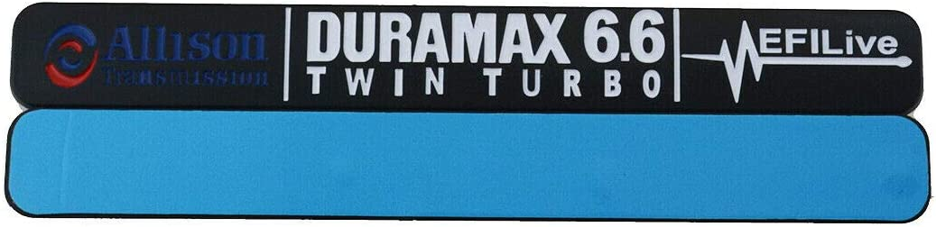 Chrome Black 2x Allison Duramax Diesel Allison 6.6 Twin Turbo EFILIVE Emblem Badge Replacement For Chevrolet Gm 2500HD 3500HD Silverado