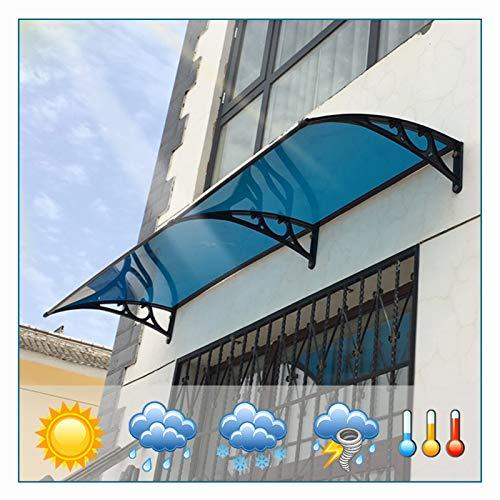 LIANGLIANG Vordach Haustür Überdachung, Selbstreinigend Regen Flammhemmend Sonnenschutz Schlagfestigkeit, Benutzt für Terrasse Schaufenster Fenster Fahrradschuppen (Color : Blue, Size : 80x80cm)