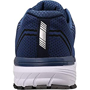 JOOMRA Mens Tennis Shoes Arch Support Trail Running Sneakers Navy Blue Size 9.5 Lace Cushion Man Jogger Runner Comfortable Walking Jogging Breathable Sport Footwear 43