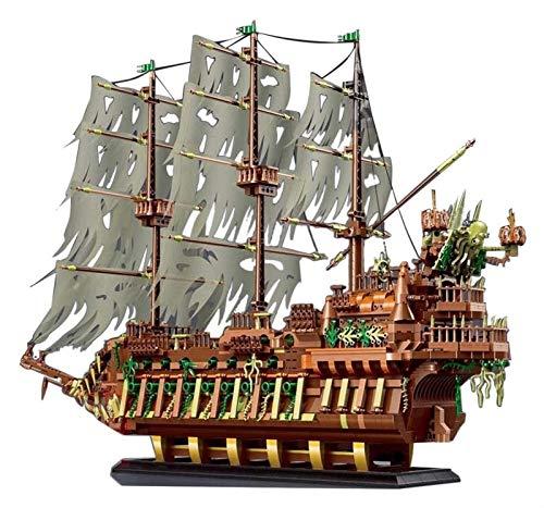Egrus Buque de Pirata Bloques de construcción Modelo 3653+ Piezas Buque de Vapor Bloques de construcción Juego de Juguetes Juguete de Arquitectura para niños Adultos compatibles con Lego