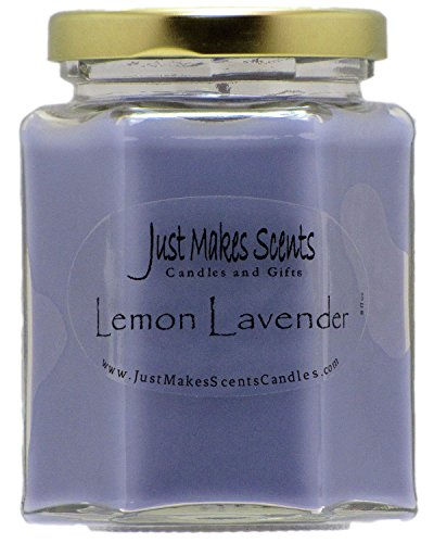 Lemon Lavender Scented Blended Soy Candle | Relaxing Lemon and Lavender Fragrance | Hand Poured in The USA by Just Makes Scents