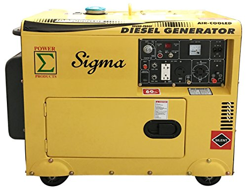 POWER PRODUCTS Sigma 7000W Silent Diesel Generator EPA Approved