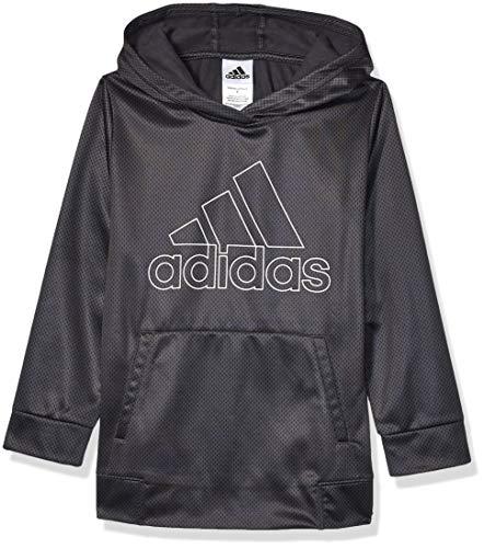 adidas Boys' Little Pullover Logo Sweatshirt, Black, 6