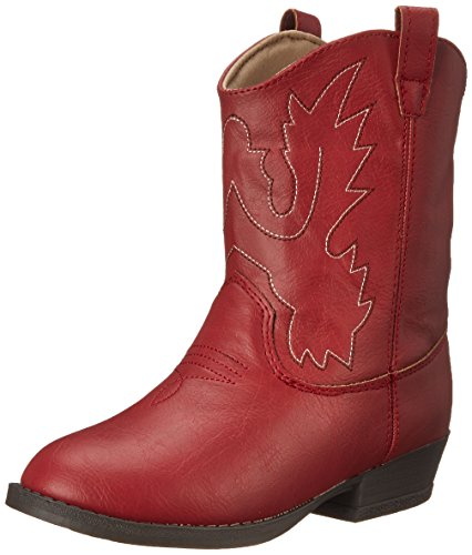 Baby Deer Kids' Pointed Toe Western Boot, Red, 10 Toddler