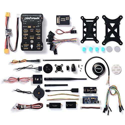 StepWorlf Control de Vuelo LED NEO-M8N GPS PPM OSD 433Mhz FPV Buzzer DIY Set Compatible para Pixhawk RC1194