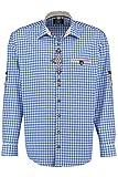Orbis Textil Trachtenhemd blau-weiß kariert XL