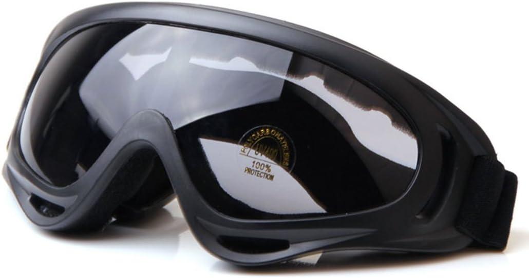 WorldShopping4U Táctico UV400 Anti-UV Snowboard Gafas de Sol Gafas de Sol Gafas A Prueba de Viento a Prueba de Polvo Gafas Protectoras Profesionales de esquí de Invierno (Negro)