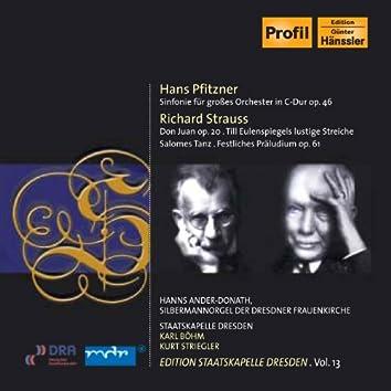 Pfitzner, H.: Symphony in C Major / Strauss, R.: Don Juan / Till Eulenspiegels Lustige Streiche (Staatskapelle Dresden Edition, Vol. 13)
