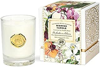 The Deborah Michel Collection Gift Boxed Scented Candle, 9-Ounce, Orchids in Bloom, 9 oz,