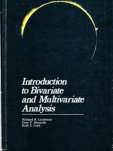 Introduction to Bivariate and Multivariate Analysisの詳細を見る
