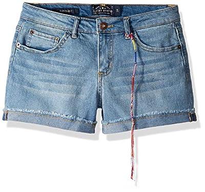 Lucky Brand Big Girls' 5-Pocket Cuffed Stretch Denim Short, Riley Christie wash, 14