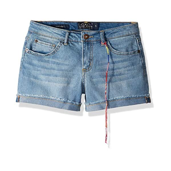 Lucky Brand Girls' 5-Pocket Cuffed Stretch Denim Short