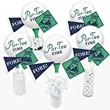 Par-Tee Time - Golf - Birthday or Retirement Party Centerpiece Sticks - Table Toppers - Set of 15