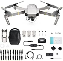 DJI - Mavic Pro Fly More Combo Platinum (Version UE) | Incl. 1 Drone Quadricoptère, 3 Batteries de Vol Intelligente, 1...