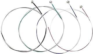 IWILCS - Cuerdas para violín (acero, 4/4-3/4,1/2,1/4,1/8 G, D, A y E, 4 unidades), color plateado