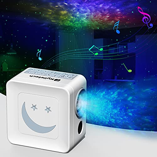 Kylietech Proiettore Stellare Luce Notturna, Proiettore con Timer e Rumore Bianco e Altoparlante Musicale Integrato, Luminosità / Velocità / Colore...