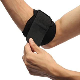 VIOST 1Pcs Adjustable Tennis Elbow Support Guard Pads Golfer Strap Elbow Lateral Pain Syndrome Brace Protector