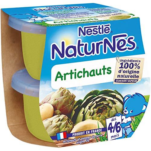 NESTLÉ Naturnes BIO - Petits Pots Bébé - Artichauts - Dès 4/6 mois -2x130g