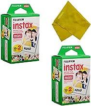Fujifilm Instax Mini Instant Film 40 Prints (2 Twin Packs = 40 Pictures) for Fuji Mini 90, Mini 70, Mini 50s, Mini 25, Mini 9, Mini 7s, Mini 8+, Mini 8 Camera, Smartphone Printer SP-1 SP-2