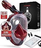 Hyponix Schnorchelmaske Vollmaske   Tauchermaske   Tauchmaske   Full Face Snorkel Mask mit sicherer...