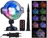 Lunartec Projektionslampe: LED-Kugellampe mit Schneefall-Effekt und Timer, weiß +...