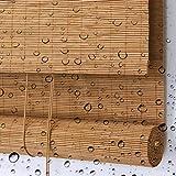 LXF Bambusrollo Rollos Patio-Pavillon-Pergola-Rollo Im Freien Wasserdicht, Privater Bambus-Verdunkelungsvorhang Im Japanischen Stil, 60/80/100/120 / 140cm Breit (Size : 100x300 cm)