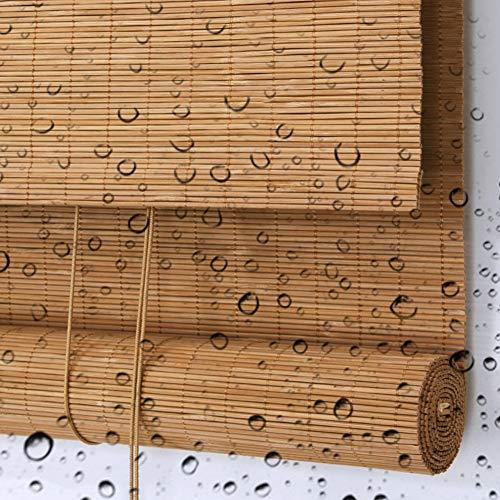 LXF Bambusrollo Rollos Patio-Pavillon-Pergola-Rollo Im Freien Wasserdicht, Privater Bambus-Verdunkelungsvorhang Im Japanischen Stil, 60/80/100/120 / 140cm Breit (Size : 140x100 cm)