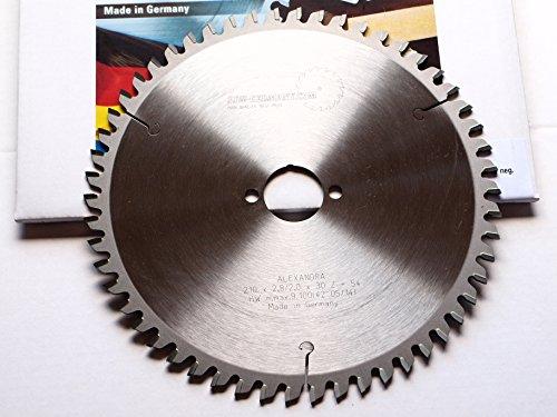 Preisvergleich Produktbild jjw-germany.com 01186 HMKreissägeblatt ALEXANDRA 210 x 30 Z= 54 TF negativ Multi Material made in germany