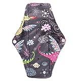 Panty pad menstrual, almohadillas menstruales reutilizables de tela de bambú de carbón vegetal, lavables, cómodas toallas sanitarias (2 #)