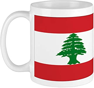 CafePress Lebanese Flag Mug Unique Coffee Mug, Coffee Cup