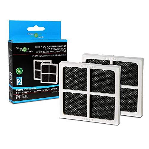 FilterLogic FFL-155L | Pacco da 2 - Filtro dell'aria per frigorifero LG - Compatibile con Filtro N' Fresh puro ADQ73214404, ADQ73373906, LT120F - Filtro antibatterico