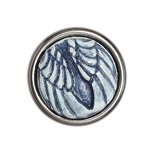 Noosa petite Chunk Guardian Angel - Wings blue ceramic