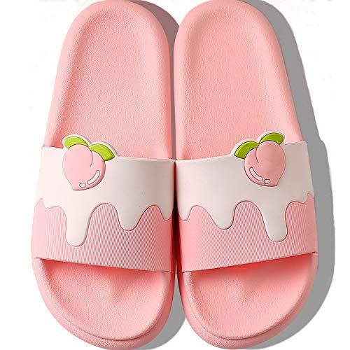 [KVbaby] スリッパ サンダル 室内履き 滑り止め 軽量 ルームシューズ キッズ 子供用 男の子 女の子 可愛い ピンク 16.5~17.0 cm E
