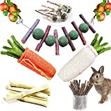 SINKOO Rabbit Chew Toys for Teeth Grinding, Bunny Toys...
