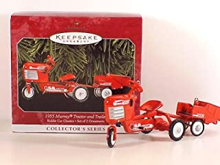 Hallmark Keepsake Ornament Kiddie Car Classics 5th in Series 1955 Murray Tractor and Trailer 1998