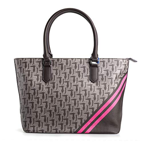 Trussardi Jeans BORSA VANIGLIA SHOPPING BAG M LOGO 75B00552 B261