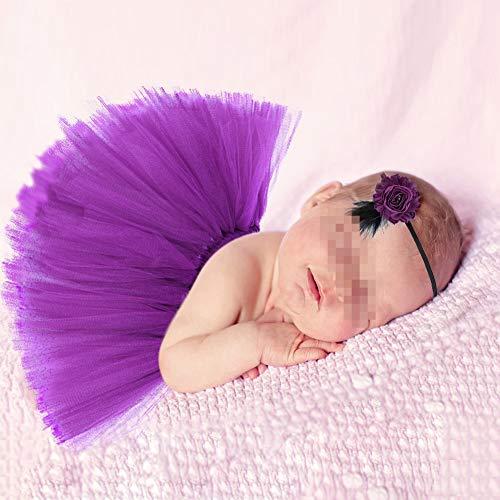 ZUMUii butterem Reci¨¦n Nacido Baby s?ugling fotograf¨ªa Tija Flores Tutu Rock Disfraz Ropa Ropa Cinta Set