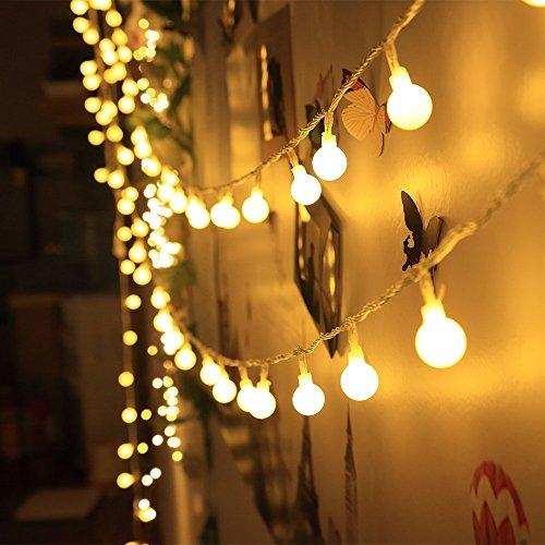 ELINKUME® LED Globe Lichterkette, 4.2M 40er Warmweiß Kugel String Licht, Wünderschöne-Deko für Weihnachten, Hochzeit, Party, Zuhause sowie Garten, Balkon, Terrasse, Fenster, Treppe, Bar, etc